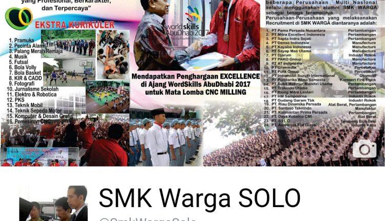 Facebook @SmkWargaSolo